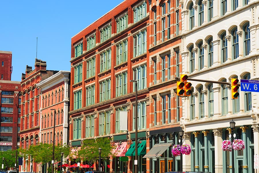 Business Insurance - Historic Buildings in the Warehouse District of Cleveland, Ohio